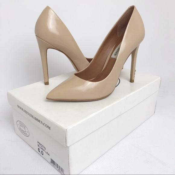 new release latest fashion low priced STEVE MADDEN | Proto Pump Pointed Blush Tan Heels